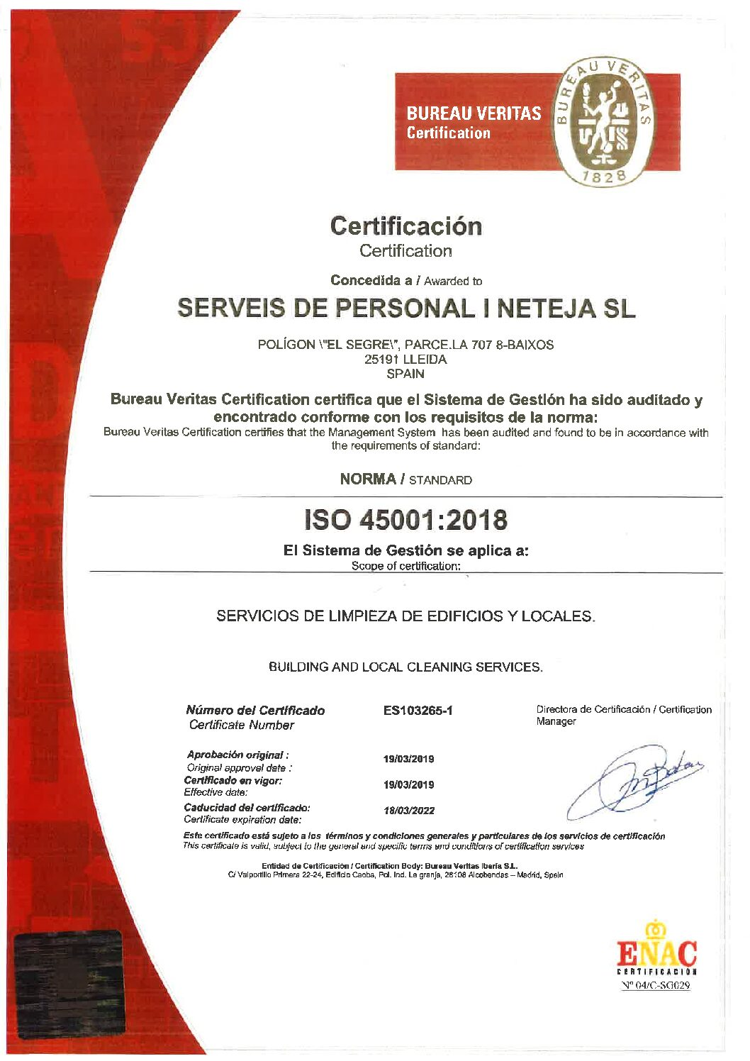 ISO 45001;2018